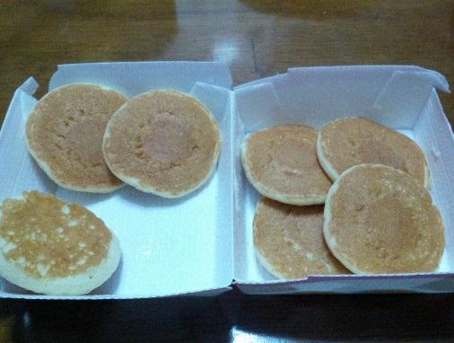マクドナルド「プチパンケーキ7枚」
