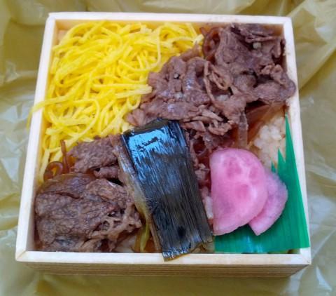 近江牛すき焼き弁当中身