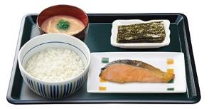 なか卵「銀鮭朝定食」