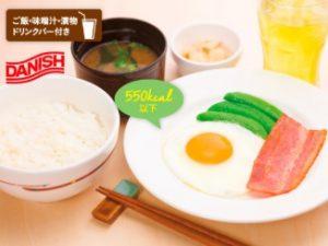 ガストのモーニング「M 目玉焼き&ベーコン朝定食」
