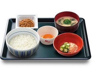 なか卯、朝まぜごはん納豆定食