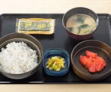 吉野家朝食2018年「辛子明太子定食」