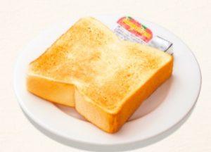 ガストのモーニング「厚切りトースト」