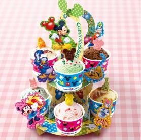 サーティーワン、「 'ミッキー&フレンズ'アイスクリームパーティーセット」