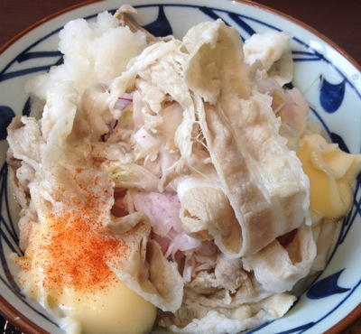 丸亀製麺豚マリぶっかけ