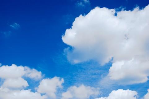 天気、青空