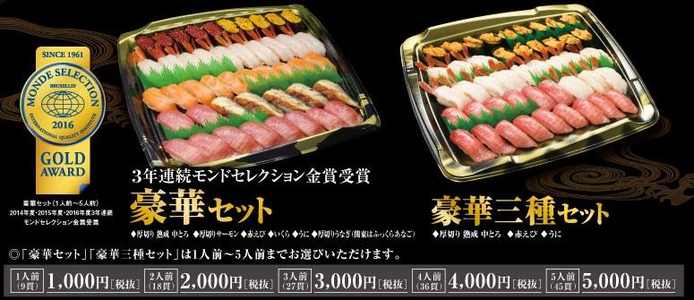 くら寿司、正月の豪華セット2018