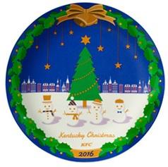 ケンタッキー、クリスマス2016クリスマス絵皿