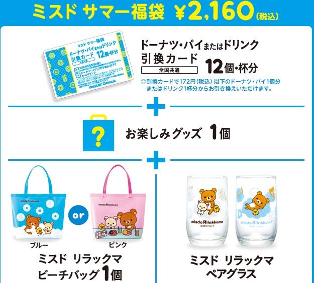 ミスド、サマー福袋20160円