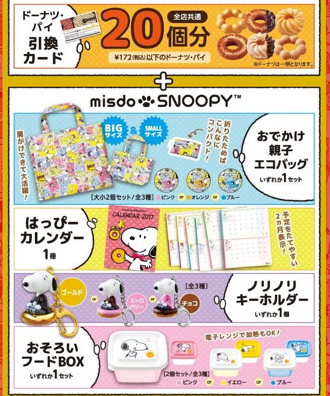 ミスドの福袋2017、2160円福袋