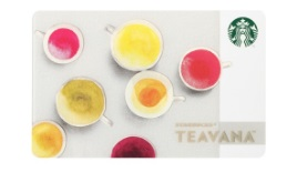 スタバ、新作2016年10月「スターバックス カード Teavana」