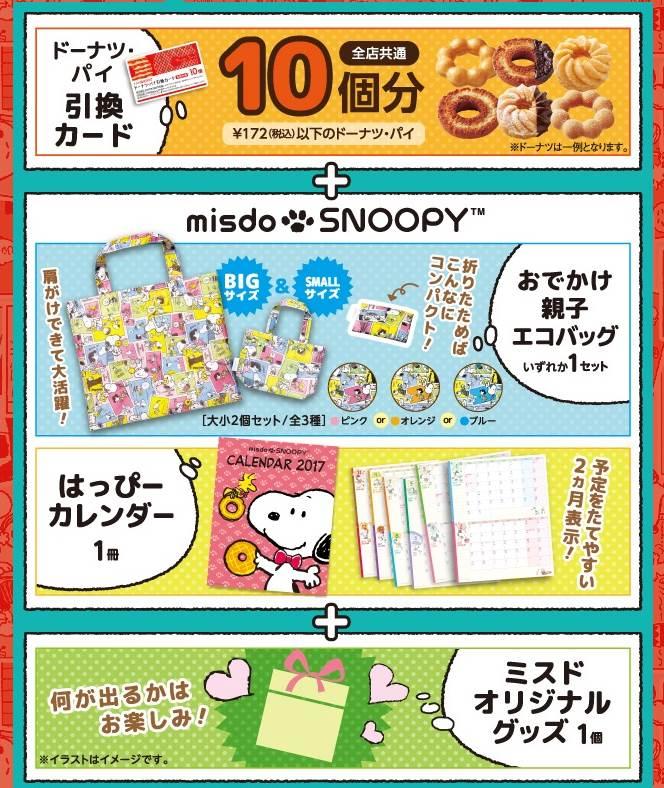 ミスドの福袋2017、1000円福袋