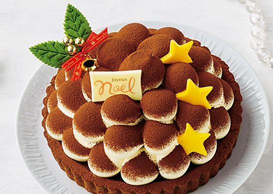 セブンイレブンのクリスマスケーキ2016「もこもふティラミスタルト(5号相当)」