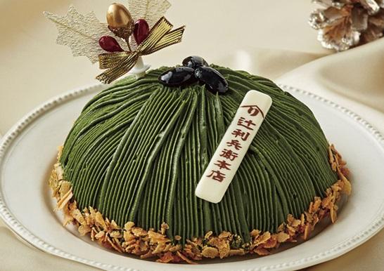 セブンイレブンのクリスマスケーキ2016「辻利兵衛本店 濃厚宇治抹茶のもんぶらん」
