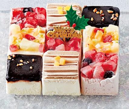 セブンイレブンのクリスマスケーキ2016「丸永 キューブアイスケーキアソート」