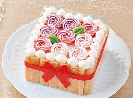 セブンイレブンのクリスマスケーキ2016「お花のプレゼントボックス」