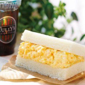 タリーズコーヒーモーニング「オリジナルエッグサラダサンドセット」