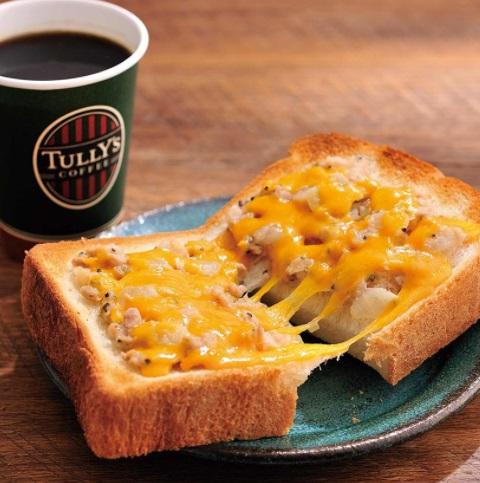 タリーズコーヒーモーニング「厚切りトースト ツナチェダーメルト セット」