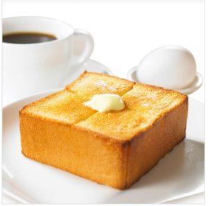 上島珈琲店モーニング「ゆで卵&厚切りバタートースト」