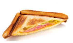 サンマルクの日替わりパンモーニング「土曜日トーストサンド(ハムチーズ)」
