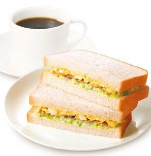 上島珈琲店モーニング「コールスローたまごサラダサンド」