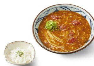 丸亀製麺「トマたまカレーうどん ひと口ごはん付」2021年9月