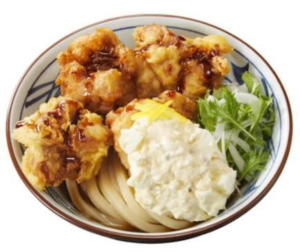 丸亀製麺「タル鶏天ぶっかけうどん」2021年2