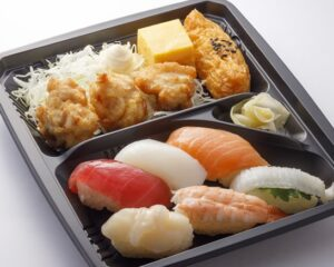 はま寿司「から揚げ寿司弁当」2021年9月