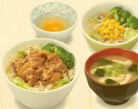 すき家「牛丼ライトランチセット」