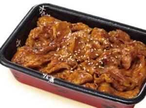 すき家のテイクアウト「牛カルビ丼弁当」2021年9月