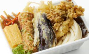 丸亀製麺「秋野菜の天ぷらと定番おかずのうどん弁当」2021年9月